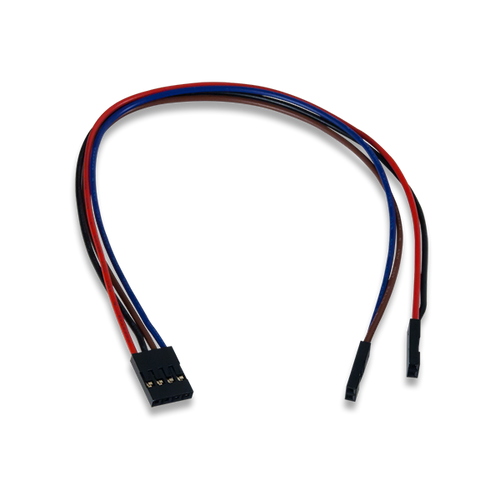 4-pin to 2x2-pin MTE Cable product image.