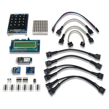 Product image of the myRIO Embedded Kit box contents. Digilent retains the right to change a part or product to a similar item to meet lead time, cost, and MOQ requirements.