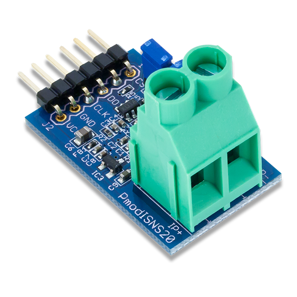 Pmod ISNS20 │ 20A電流感測器模組