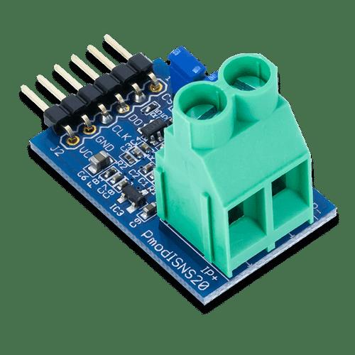 Pmod ISNS20: 20A Current Sensor product image.