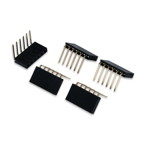 Pmod Female Right Angle 6-pin Header product image. Ships in a pack of 5.