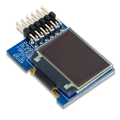 Product image of the Pmod OLEDrgb: 96 x 64 RGB OLED Display with 16-bit color resolution.