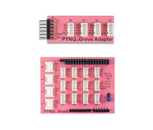 Product image displaying the two PYNQ Grove System Add-on Board choices available: the PYNQ Grove System Pmod Adapter and the PYNQ Grove System Shield.