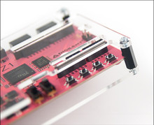 Product image of the PYNQ-Z1 Plexiglass Covers completely built with the standoffs attached. PYNQ-Z1 board sold separately.