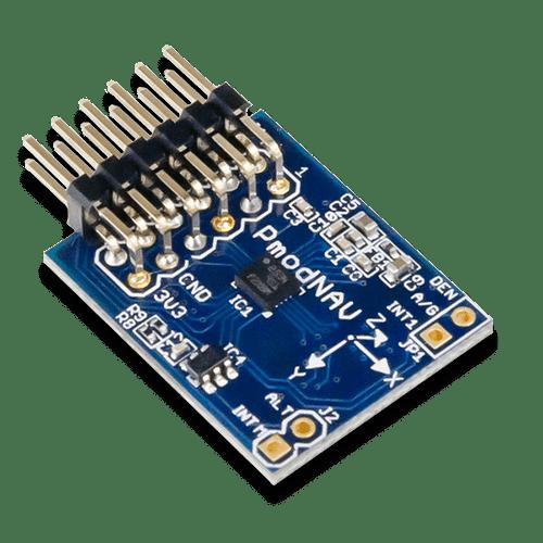 Pmod NAV: 9-axis IMU Plus Barometer product image.