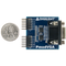Size comparison product image of the Pmod VGA: Video Graphics Array and a US quarter (diameter of quarter: 0.955 inches [24.26 mm]; width: 0.069 inches [1.75 mm]).
