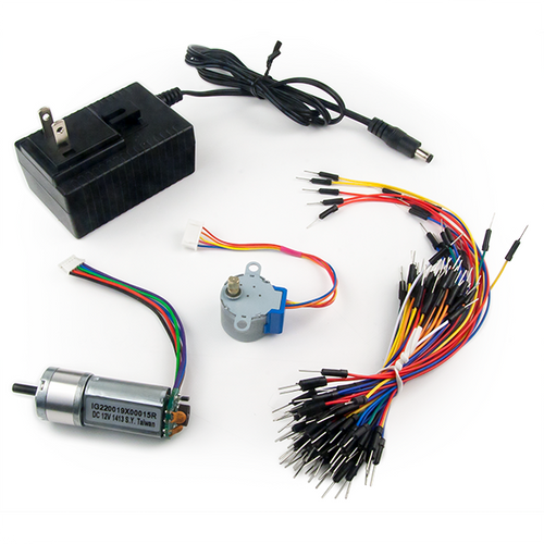 Basys MX3 Lab Bundle contents: 5V, 4A Switching Power supply, 70 piece jumper wire kit with rounded tips,  Motor/Gearbox,  and 5V stepper motor. Digilent retains the right to change a part or product to a similar item to meet lead time, cost, and MOQ requirements.