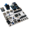 Product image of the Arty Z7 Pmod pack displaying the ease of plugging the included Pmods into the Arty Z7 FPGA. Includes the Pmod NAV, Pmod SSR, Pmod RTCC, Pmod TPH2, and the Pmod ENC. Arty Z7 sold separately.