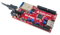 Product image of the Wi-FIRE: WiFi Enabled PIC32MZ Microcontroller Board plugged in to a USB cable. USB cable sold separately.