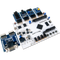 Product image of the Arty S7 Pmod Pack displaying the ease of plugging the included Pmods into the Arty S7 FPGA. Includes the Pmod VGA, Pmod MIC3, Pmod AMP2, Pmod HYGRO, and the Pmod SWT.  Arty S7 sold separately.