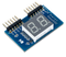 Product image of the Pmod SSD that is included in the Zybo Z7 Academic Pmod Pack.