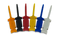 Product image of the 6-pack of Mini Grabber Test Clips for use with Instrumentation Flywires. Colors of Mini Grabbers may vary depending on our manufacturing suppliers.