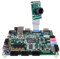 Product image of the Pcam 5C: 5 MP Fixed Focus Color Camera Module plugged into the Zybo Z7 using the included ribbon cable connector. Zybo Z7 is not included.