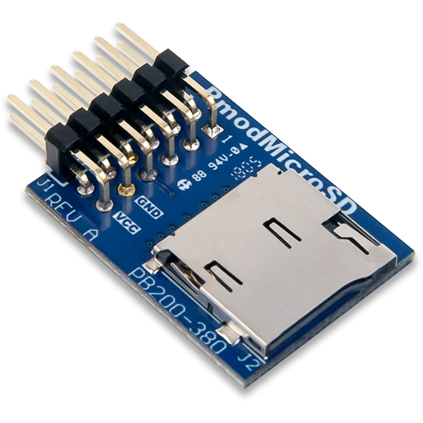 Pmod MicroSD │ 外接 microSD卡槽模組