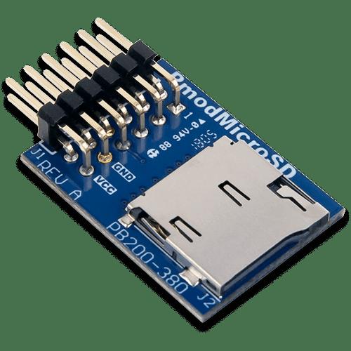 Pmod MicroSD Card Slot product image.
