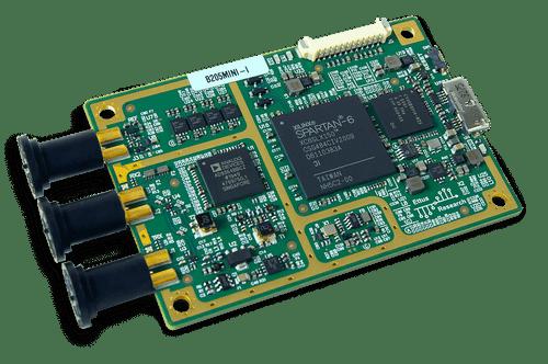 Angled product image of the USRP B205mini-i.