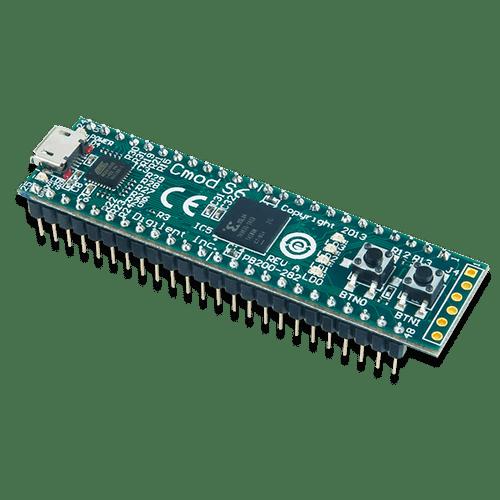 Cmod S6: Breadboardable Spartan-6 FPGA Module product image.