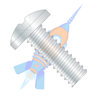 6-32 x 7/8 Phillips Binding Undercut Machine Screw Fully Threaded Zinc