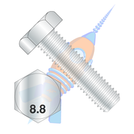 M6 x 10 Din 933 8 Point 8 Metric Fully Threaded Cap Screw Zinc