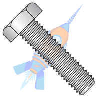 5/16-18 x 3-1/2 Hex Tap Bolt Fully Threaded 18-8 Stainless Steel