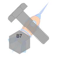 7/8-9 x 5 Heavy Hex Bolt Grade B7 ASTM A193 Plain