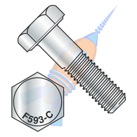 1/4-20 x 3/8 Hex Cap Screw 18-8 Stainless Steel