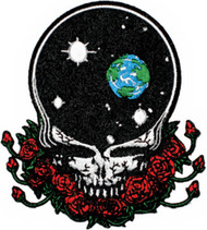 Grateful Dead Iron-On Patch Space Your Face Skull