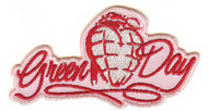 Green Day Iron-On Patch Pink Grenade Logo