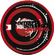 Interpol Iron-On Patch Circle Logo