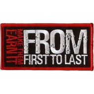From First To Last Iron-On Patch Make Them Earn It Logo