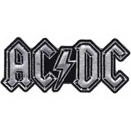 AC/DC Iron-On Patch Silver Chrome Letters Logo