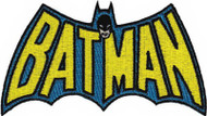 Batman Iron-On Patch Cape Letters Logo