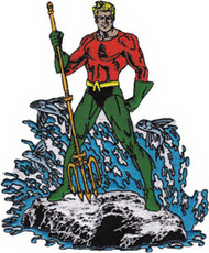 Aquaman Iron-On Patch Figure Standing