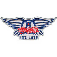 Aerosmith Iron-On Patch Est 1970 Wings Logo