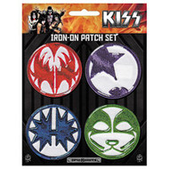 Kiss Iron-On Patches Mini Icons Set Of 4