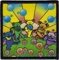 Grateful Dead Iron-On Patch Bear Utopia
