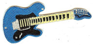 Electric Guitar Iron-On Patch Blue