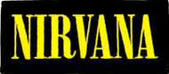 Nirvana Iron-On Patch Yellow Letters Logo