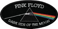 Pink Floyd Iron-On Patch Oval Dark Side Of The Moon Logo