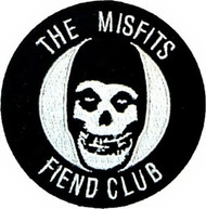 Misfits Iron-On Patch Round Fiend Club Skull