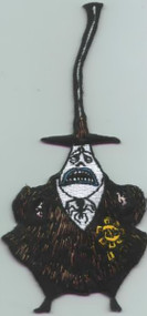 Nightmare Before Christmas Iron-On Patch Mayor Sad