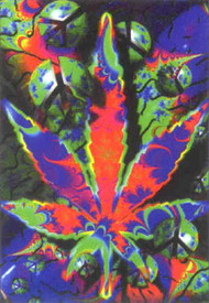 Psycho Leaf Poster Flag Psychedelic Peace Logo Tapestry