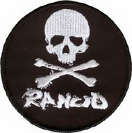 Rancid Iron-On Patch Skull Crossbones Logo