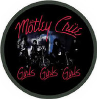 Motley Crue Iron-On Patch Round Girls Logo