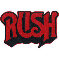 Rush Iron-On Patch Red Letters Logo