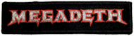 Megadeth Iron-On Patch Rectangle Logo