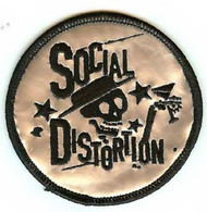 Social Distortion Iron-On Patch Silver Circle Logo