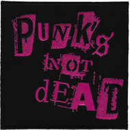 Punk's Not Dead Iron-On Patch Square Logo