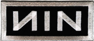 Nine Inch Nails Iron-On Patch NIN Silver Logo
