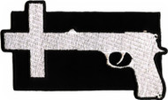 Nine Inch Nails Iron-On Patch Gun Cross Logo